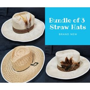 Accessories - Bundle of 3 straw Hats